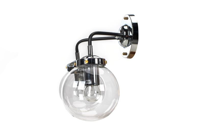 Lampa MORED 2 Chromowana Czyste Szkło
