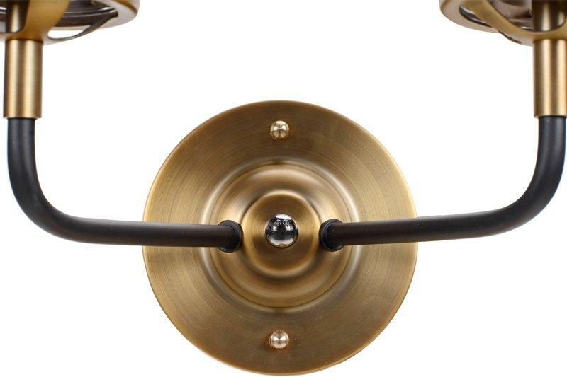Lampa MORED 2 Złota Czyste Szkło
