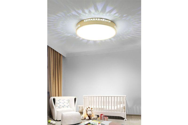Plafon Lampa Sufitowa BOZON 550 Okrągła - Z Kryształkami