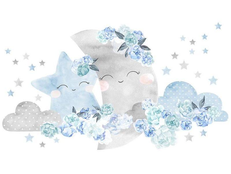 naklejka   księżyc niebieski Pastelowe Love