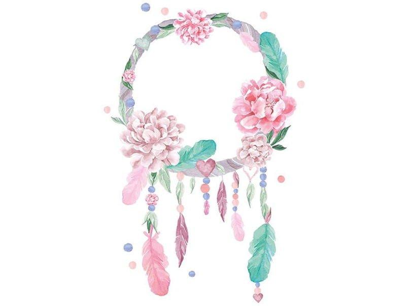 naklejka   łapacz snów różowy Pastelowe Love