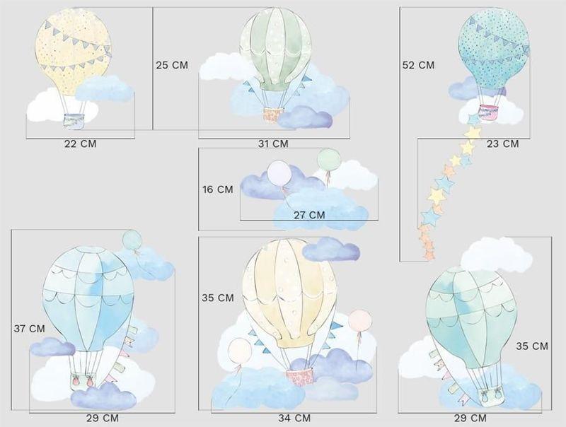 naklejki | balony miętowe Pastelowe Love