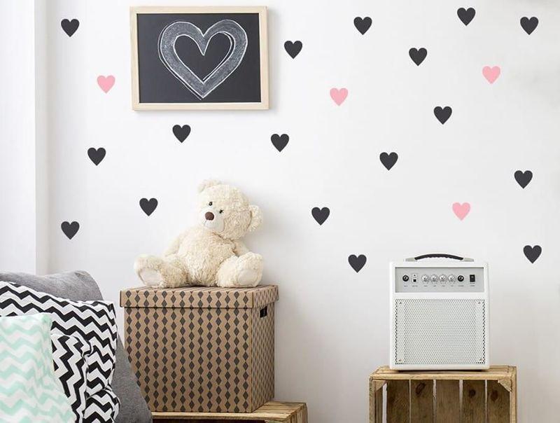 naklejki   serca - małe Pastelowe Love